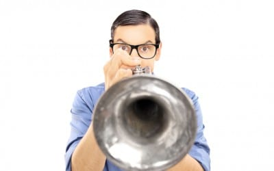Blow your own trumpet!