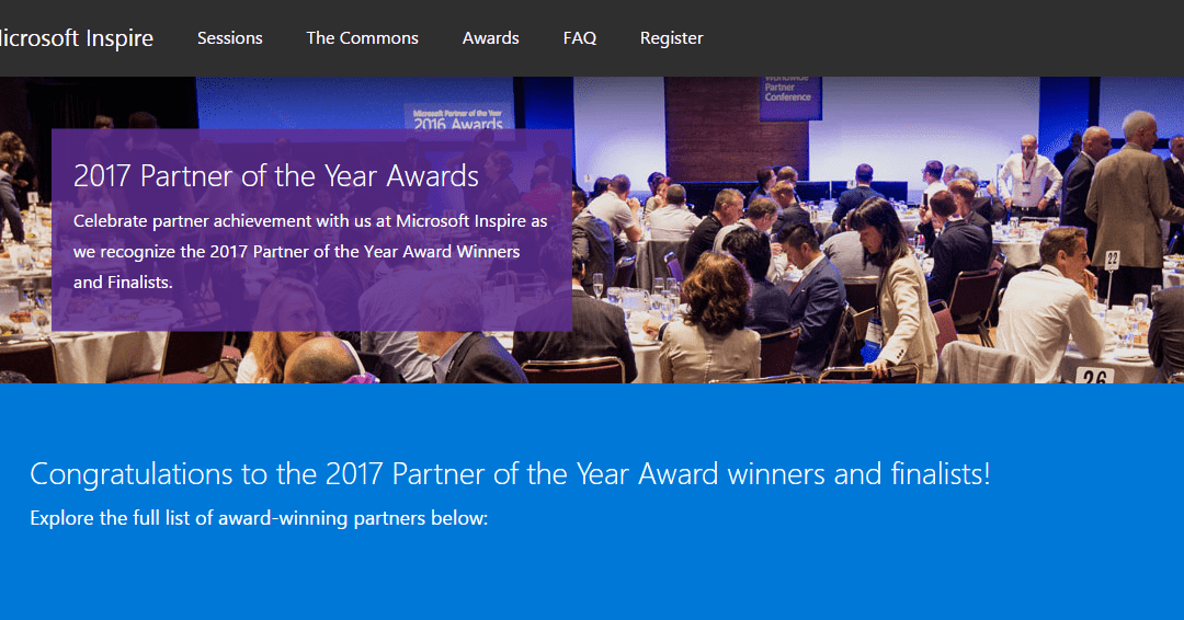 Who is Microsoft's best Dynamics Partner 2017?