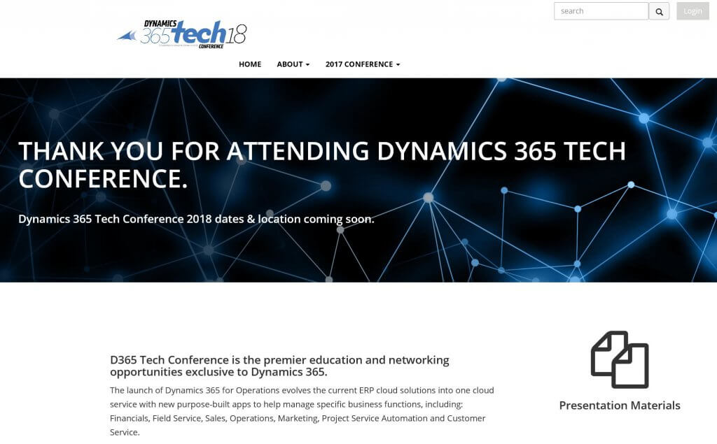 Dynamics 365 Tech Conference 2018