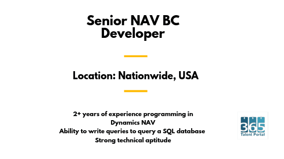 Senior NAV BC Developer